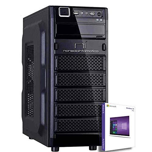 PC DESKTOP COMPUTER FISSO CON LICENZA WINDOWS 10 pro Talloncino con seriale INTEL QUAD CORE RAM 8GB DDR4 HD1TB DVD/WIFI/HDMI FISSO COMPLETO ASSEMBLATO