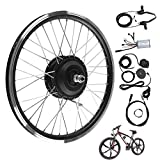 VGEBY1 36V/48V 250W E-Bike 26'Kit de conversión de Rueda Delantera/Trasera con LED Dispaly Bicycle Cycling Engine(48V- Rear Motor)
