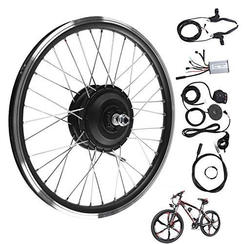 Bnineteenteam Kit de Rueda de Bicicleta eléctrica de 48V 250W, Pantalla LED Kit de conversión de Motor de Bicicleta eléctrica de Rueda Delantera/Trasera de 20
