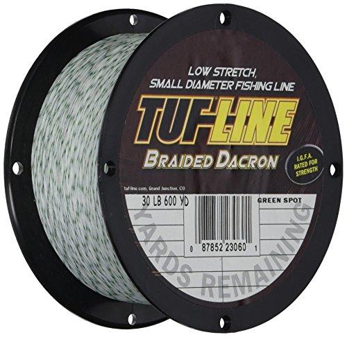 Tuf Line Dacron 600 yd Fishing Line, Green Spot, 30 lb