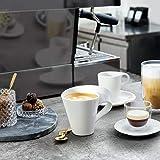 Villeroy & Boch - NewWave Caffè Tasse mit Henkel, 300 ml, eleganter Kaffeegenuss, Premium Porzellan, spülmaschinen-, mikrowellengeeignet, Weiß - 2