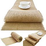 Roban Fashion Camino de mesa de yute natural, marrón, ancho 50 cm, rollo 5 m, 10 m, 15 m, 25 m, 30 m, 40 m, 50 m, 60 m, 70 m, 80 m, 90 m, 100 m (50 cm x 5 m)