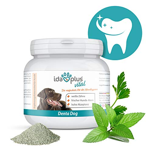 Ida Plus - Denta Dog mondhygiëne voor honden - 100 g - honden tandreiniger als poeder - honden tandverzorging - tegen honden tandsteen & honden mondgeur - voor frisse hondenatem & witte tanden - hoge acceptatie