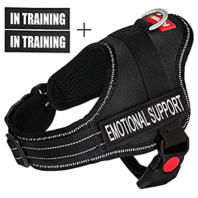 Fairwin Emotional Support Vest for Service Dog - Adjustable Nylon with Removable Reflective Patches for Emotional Support Dogs Large Medium Small Sizes