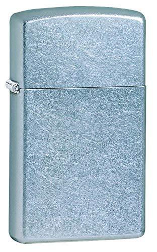 Zippo Feuerzeug 60001160 Street Chrome Slim Benzinfeuerzeug, Messing