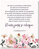 1 Corintios 13:4-8 En Espanol Wall Decor - Psalm 91 Cuadro - Christian Wall Decor In Spanish - 8x10 - Unframed