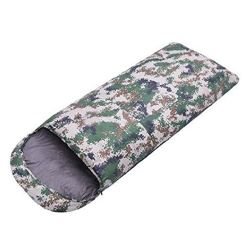 TSSM Camouflage Camping Sac De Couchage Peut Connecté Enveloppe avec Full Open Design Bas Chaud Et Respirant pour Les Couples Voyage Activités De Plein Air