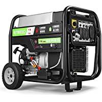Enkeeo 12,000 peak watts & 9,000 rated watts Dual Fuel Portable Generator