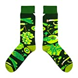 CUP OF SOX - Früchte/Trauben/Salat/Vegan Socken - Socken in der Pappbecher - Herren & Damen Geschenksocken Socken, Grün, 41-44