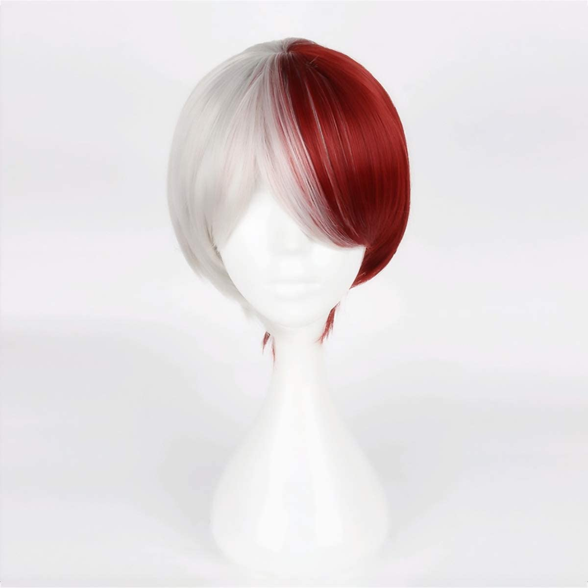 Half Genuine Red and Sliver Wig Costume Cosplay Halloween Ranking TOP4 Short