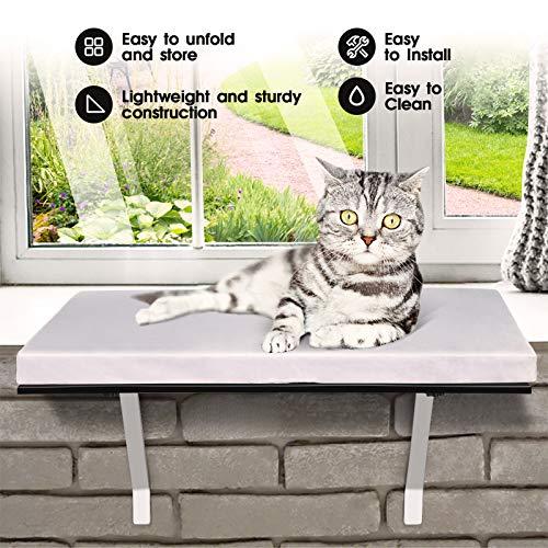 Topmart Pet Cat Window Seat Wall Mount Perch