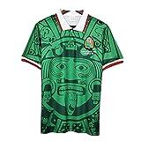 Coupe du Monde 1998 Mexique Maillot de Football rétro, T-Shirt rétro équipe Nationale de Football à Domicile/à l'extérieur-Blue-XL