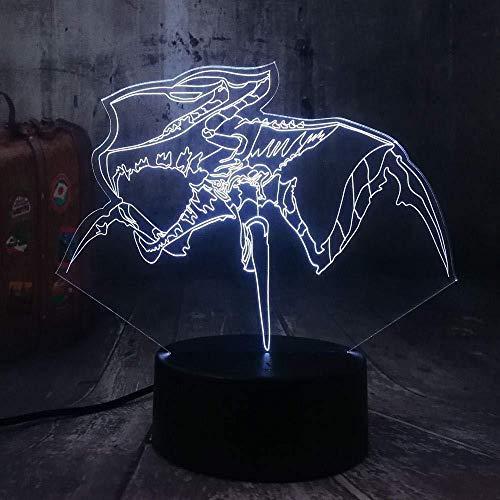 3D Nachtlampje film trooperaliën creatie spinnentiere kruigers 3D LED nachtlampje bureaulamp kerstcadeau kind jongen Toy7-Color Touch Light