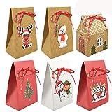 Yuson Girl 6/12Pcs Cajas de Regalo de Navidad 6 Estilos Diferentes de Cajas de Regalo de N...