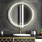 FAUETI LED Badspiegel Badezimmerspiegel mit Beleuchtung 60cm Neutralweiß 4200K Wandspiegel mit...