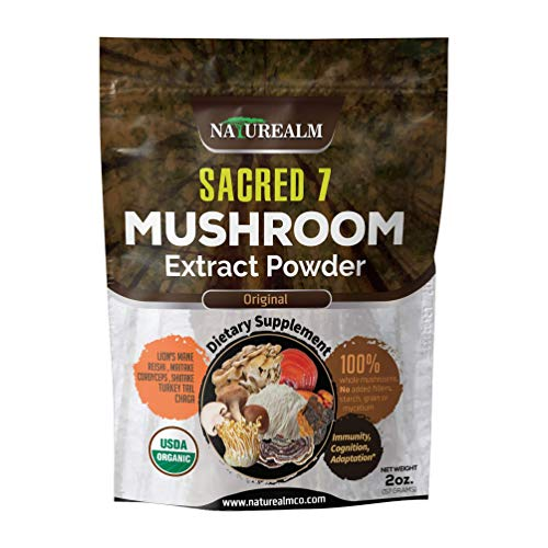 Sacred 7 Mushroom Extract Powder - USDA Organic - Lion