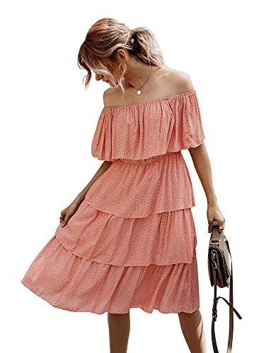 Taartjurk-Dames Zomer One-Shoulder Cover Up Casual Beach Sun Dress Cocktail Swing Dress