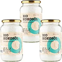 Olio di Cocco Biologico Extra Vergine CocoNativo – 3x1000ml – Crudo e Spremuto a Freddo; Organico e Puro; Non...