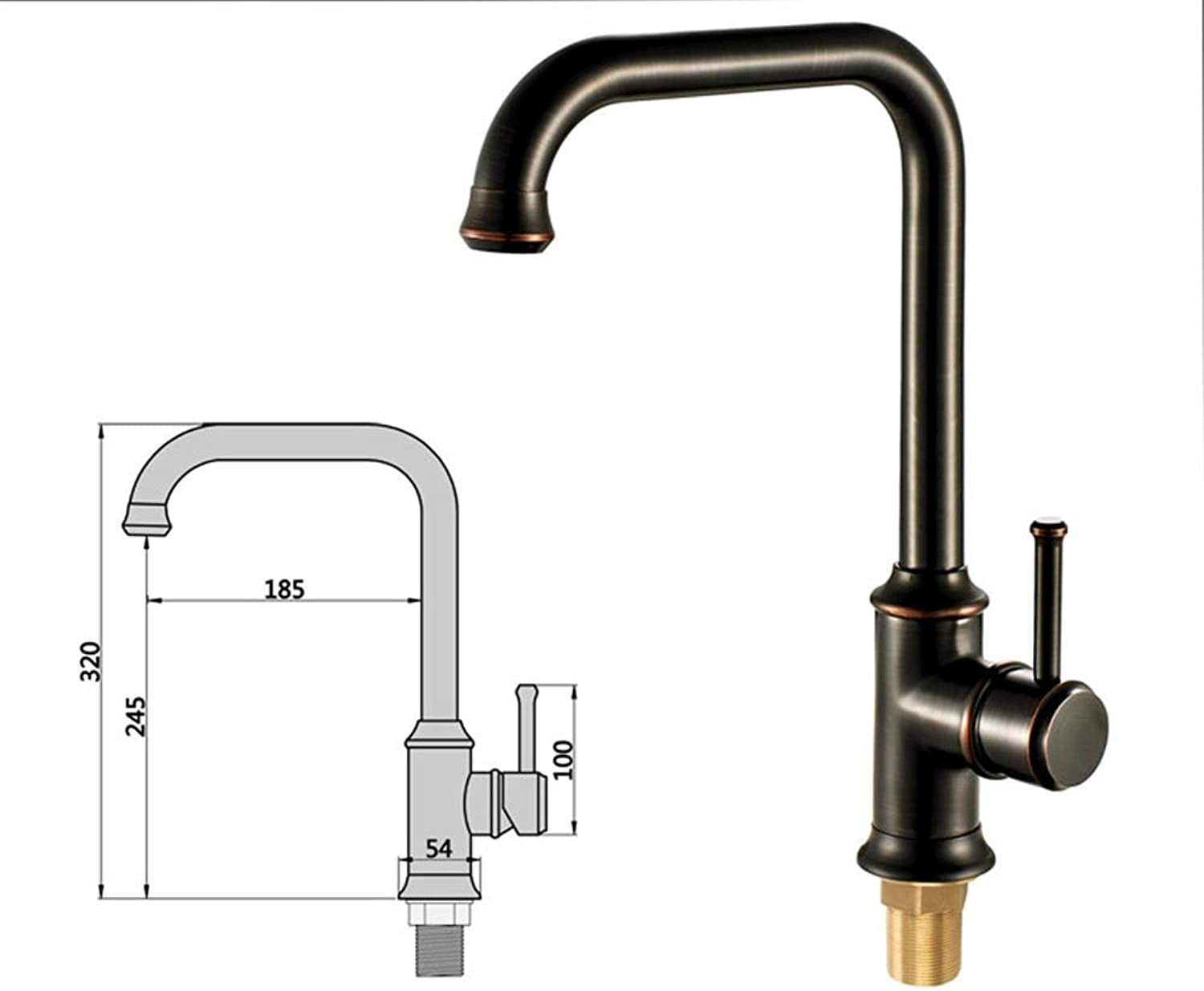 Bijjaladeva Antique Kitchen Sink Mixer Tap Antique Black 古 color Kitchen Faucet Bronze Basin Mixer Throughout The Course of hot and Cold Water Mixing Valve can be redated