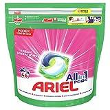 Ariel Todo en Uno Pods Rosa Fresca Detergente en cápsulas, 46pods, 46lavados, adecuado para lavar a baja temperatura, Perfume Duradero
