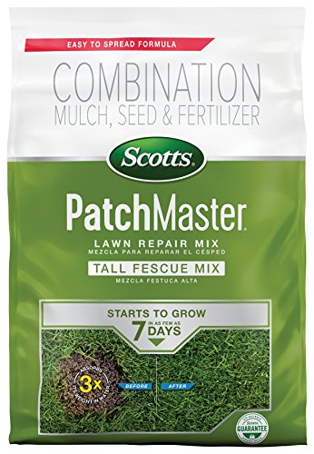 Scotts PatchMaster Lawn Repair Mix Tall Fescue Mix - 4.75 lb., All-In-One Bare Spot Repair, Feeds for up to 6 Weeks For Fast Growth and Thick Results, Covers Up To 140 sq. ft.