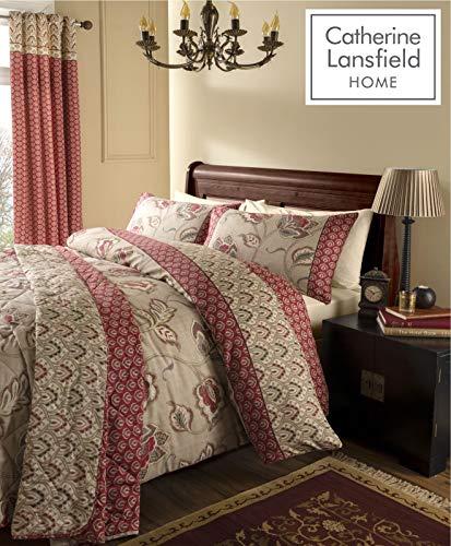 Catherine Lansfield Kashmir - Juego de cama (algodón de 200 hilos), matrimonio, 220 x 320 cm