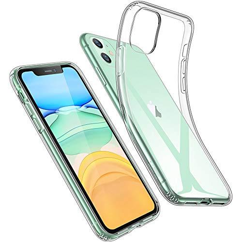 [Protección transparente]: la funda para iPhone 11 tiene solo 1,1 mm de grosor, para una protección sin volumen. TPU transparente y resistente a la amarilleo que ayuda a garantizar una transparencia duradera. [TPU flexible con esquinas de protección ...