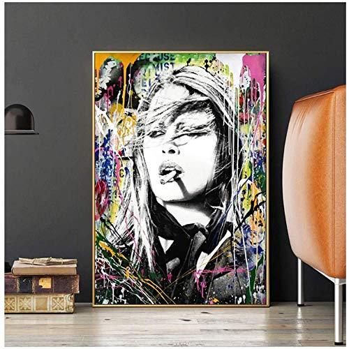 Sungup Brigitte Bardot abstrakte Kunst Graffiti Leinwand Malerei auf Wandkunst Poster und Drucke Bild Home Decor