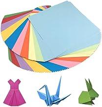 HEOCAKR Papel para Papiroflexia, 100 Hojas Papel de Origami 20 x 20 cm 10 Colores para Manualidades DIY Proyectos de Artes y Manualidades, Cuadrado Color Papel Plegable