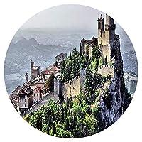 ジグソーパズル1000ピースパズルサンマリノランドスケープキャッスルファミリーデコレーション、ティーンエイジャーと大人に適したユニークな誕生日プレゼント円形パズル