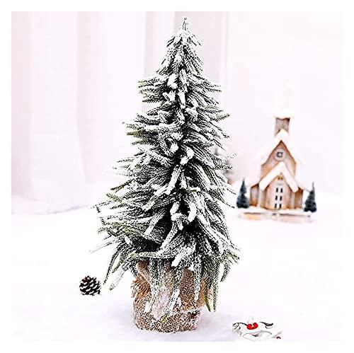 CHHD Árbol de Navidad Árbol Artificial Mini árbol de Pino Artificial con Bolsa de arpillera Escaparate de la Tienda Regalo de decoración de Navidad, Árbol de Navidad de Mesa pequeño con