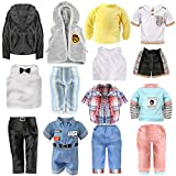 Voccim 6 Sets 18 Inch Boy Doll Clothes Outfits for American Boys Doll Accessories with Tuxedo Suit Sportswear Daily Casual Wear Jacket Pants Clothes for Logan Doll