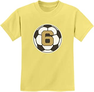 Tstars - 6 Year Old Sixth Birthday Gift Soccer Youth Kids T-Shirt