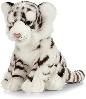 Living Nature Soft Toy - Plush Wildlife Animal, White Tiger Cub (25cm) - Realistic Soft Toys with Educational Fact Tags