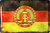 Froy Countries Flags Countries DDR Flag Wand Blechschild
