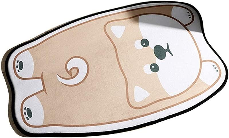 Bath Mat Kids Bath Rugs Bath Mat Rug Bathroom Carpet Door Mat Entering The Door Home Household Mat Non Slip Personality Water Absorption WEIYV Color Akita Size 5080cm