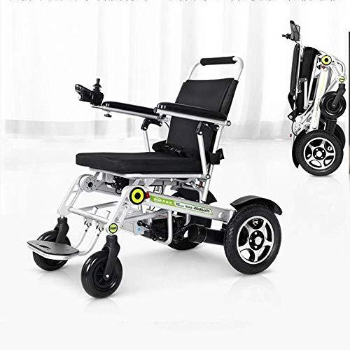 ZHANGYY Elektrischer Rollstuhl Vollintelligenter, automatisch zusammenklappbarer, ultraleichter Ein-Knopf-Aluminiumlegierungskörper/20A-Ionenbatterie