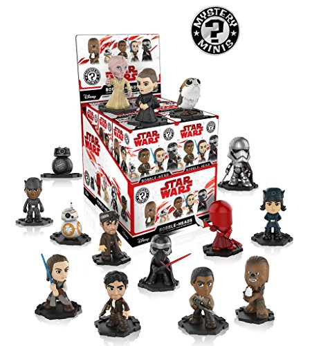 Funko Star Wars The Last Jedi Episode 8 Mystery Minis Display Case of 12 Blind Box Bobble-Heads - 12 x Figurines vinyle Mystery Minis …