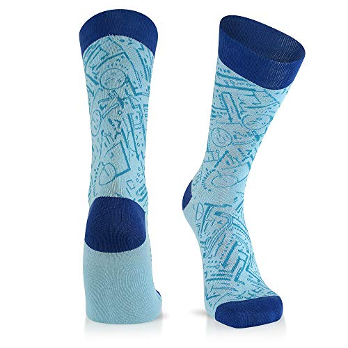 Fun Socks For Men: Mens Cool Dress Socks: Novelty Crazy & Funky Colorful Sock: Architect Engineer