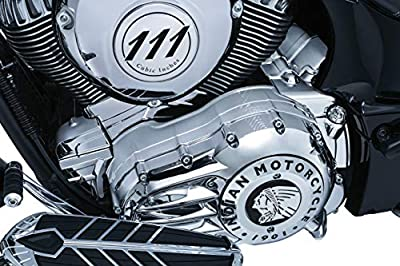 Kuryakyn 5644 Motorcycle Accent Accessory: Rear Oil Panel Cover for 2014-18 Indian Motorcycles, Chrome from Kuryakyn