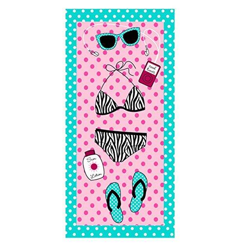 Gbcype Funny Pink Flamingo Beach handdoeken reizen bikini lichte ananas badhanddoeken voor het cadeau van het zwembad