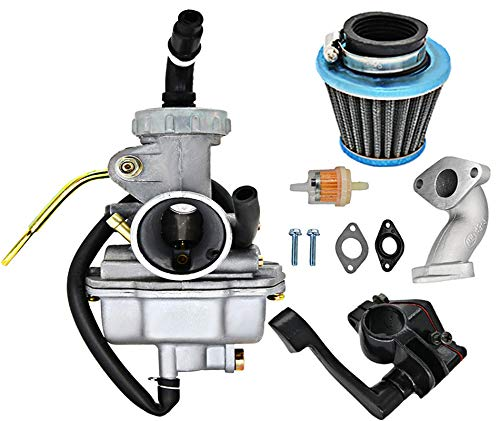 PZ20 Carburetorfor kazuma baja 50cc 70cc 90cc 110cc 125cc Filter Gaskets110 Atv Carburetor Chinese Quad 4 Stroke ATV Go Kart Pit Dirt Bike CRF50F XL75 CRF80F XR50R with Air Fuel Filter by Rain King
