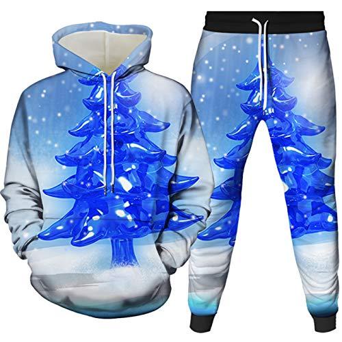Felpa con cappuccio da uomo Sportswear Pantaloni e top con maniche lunghe 1401-1500-12-yk2jt 2XL