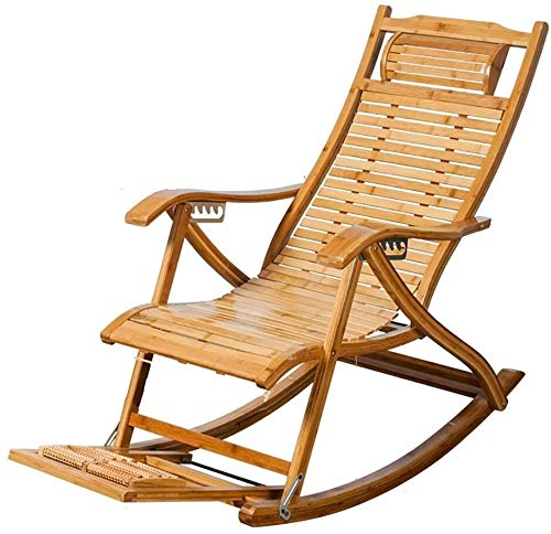 BESTSUGER Comfortable Lounge Chair, Beach Patio, Deck Chair, Adjustable Recliner, Bamboo Lounge Chair, Indoor or Outdoor Lounge Chair 1021