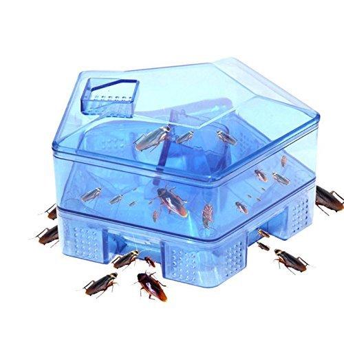 Techsun Mart House Kitchen Hot Cockroach Bug Catcher Killer Fall Box (Blue, Standard Size)