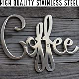 Way Of Hearts Metal Coffee Sign–Kitchen Wall Decor-Farmhouse Decor Coffee Bar Sign–Metal Wall Art for Home Decor-Farmhouse Wall for The Home Bar-Decorations for Coffee Station-Silver, 9.45 x 6.9