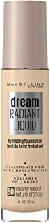 Maybelline Dream Radiant Liquid Hydrating Foundation with Hyaluronic Acid - Creamy Natural 50, Creamy Natural (K3772700)