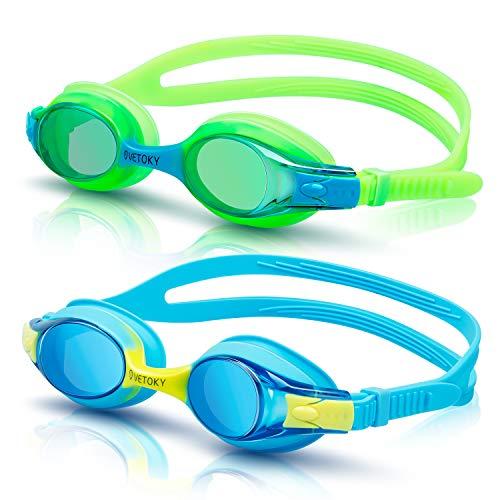 vetoky Gafas de Natación, Antiniebla Gafas para Nadar Protección UV sin Fugas para Niños Y Jóvenes 3-10 años