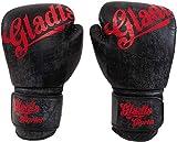 Gladts Guantes de Boxeo Premium de Cuero Negro - Tamaño 18 onzas - para Adultos