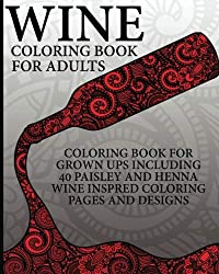 wine coloring book.